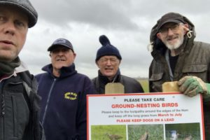 Signs at Upton Ham to help protect nesting birds
