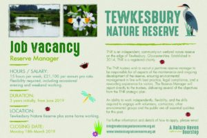 Tewkesbury Nature Reserve – Job Vacancy